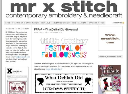 Mr X Stitch Give Away
