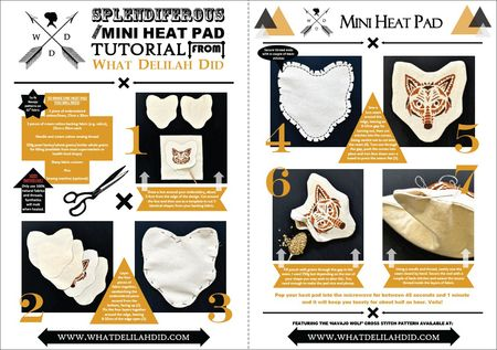 Mini Heat Pad Tutorial with border