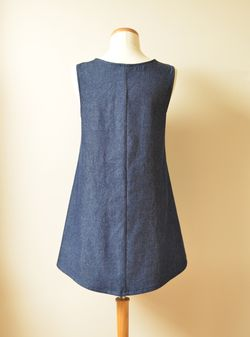 Denim Pinafore Back