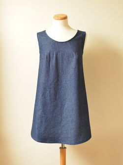 Denim Pinafore Front