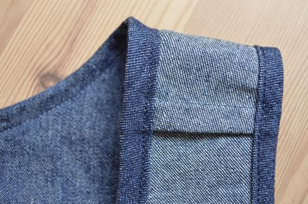 Denim Pinafore Internal Seams