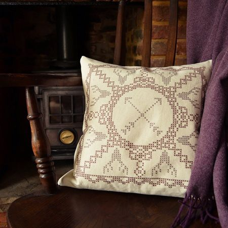 Stag Lace Cushion 2 - lifestyle