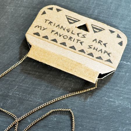Cassia Triangle Necklace Packaging