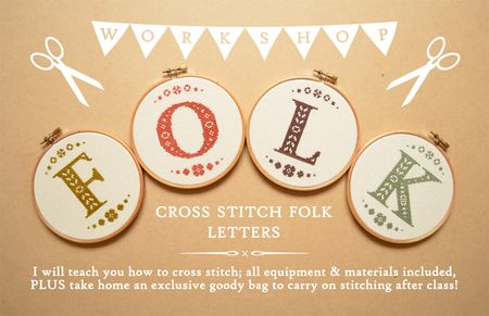 Folk Letters Workshop Banner