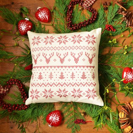 Christmas Cushion Lifestyle Shot Square 2