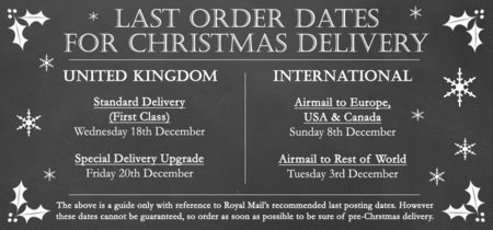 Last Christmas Order Dates 2013