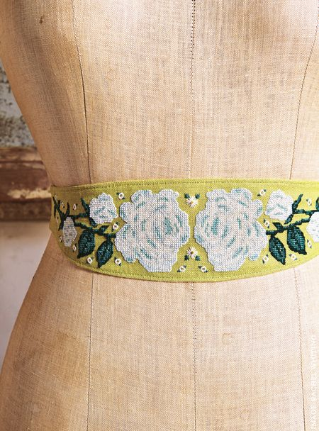 Prophet Rose Sash Belt from Secret Garden Embroidery by Sophie Simpson