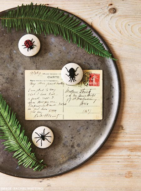 Little Bug Magnets from Secret Garden Embroidery by Sophie Simpson