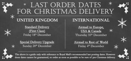 Last Christmas Order Dates 2015